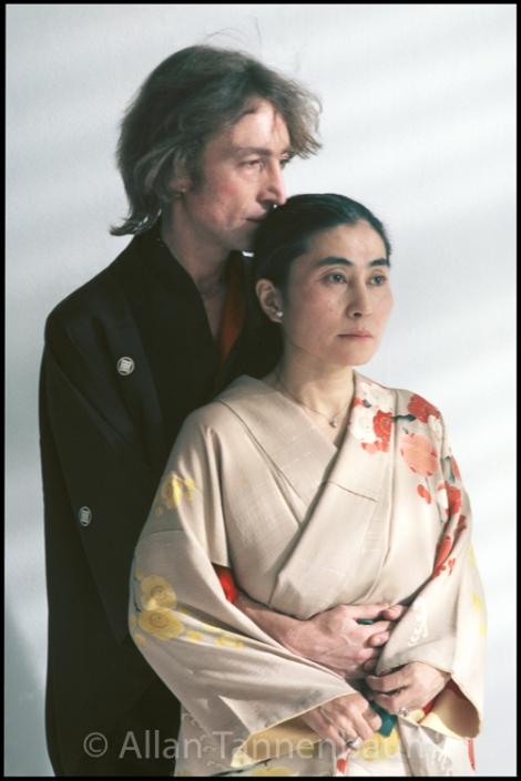 John Yoko Kimonos Embrace Archival Fine Art Print Signed By The Photographer Soho Blues Gallery