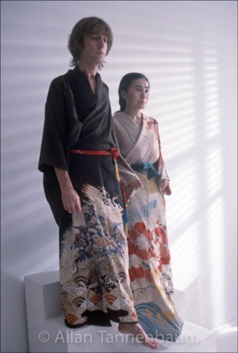 John Yoko Kimonos Step Archival Fine Art Print Signed By The Photographer Soho Blues Gallery